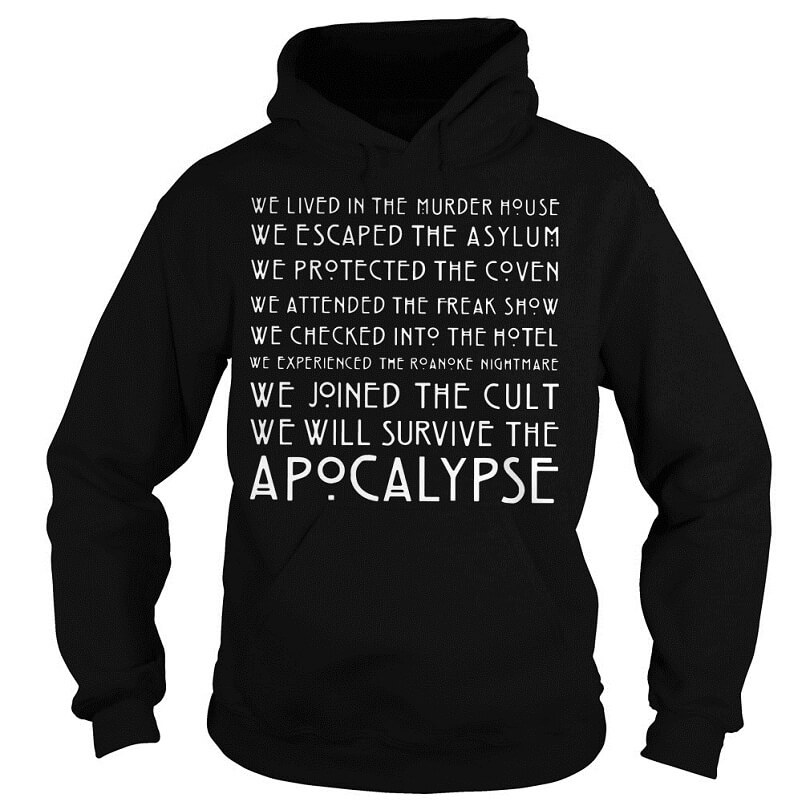 We lived in the murder house we escaped the asylum hoodie