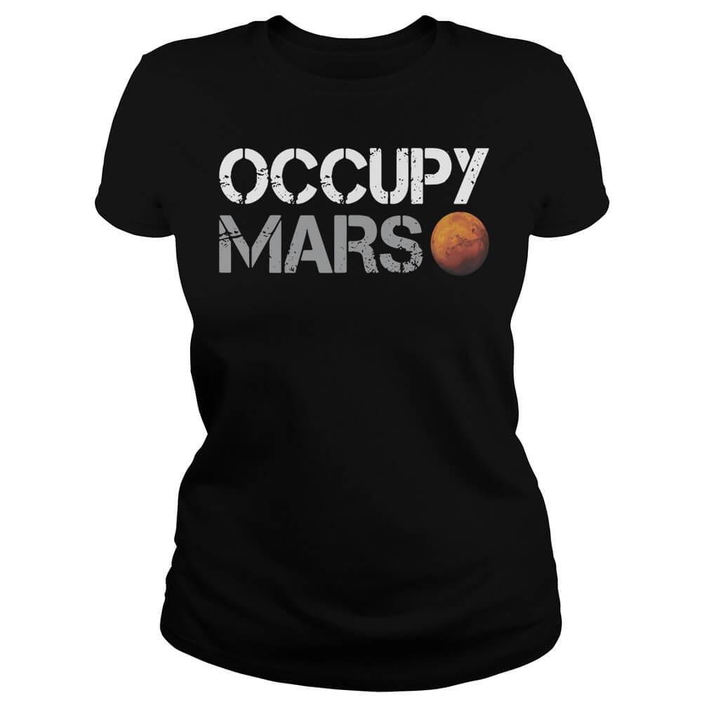 Elon Musk Occupy Mars shirt girl