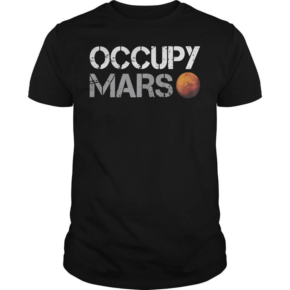 Elon Musk Occupy Mars shirt