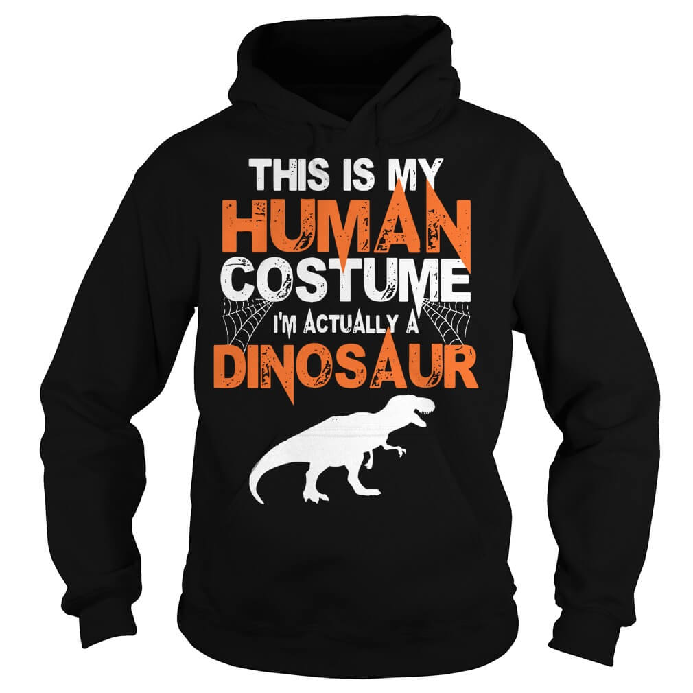 This is my human costume I'm actually a Dinosaur men