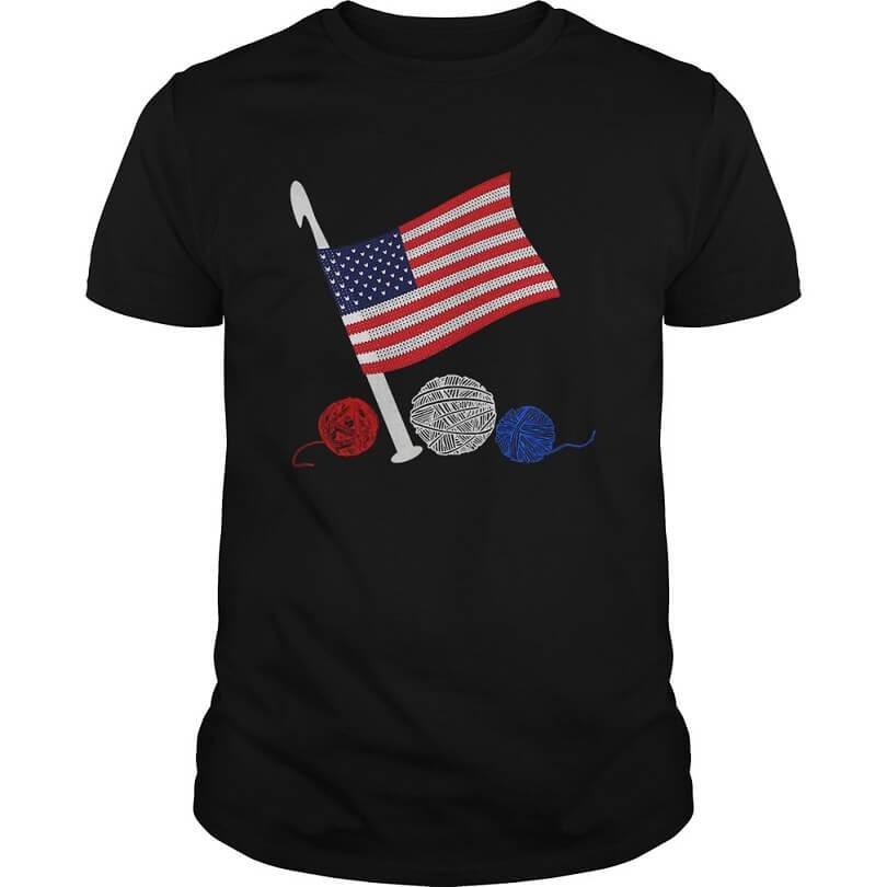 Crochet Flag America for men shirt