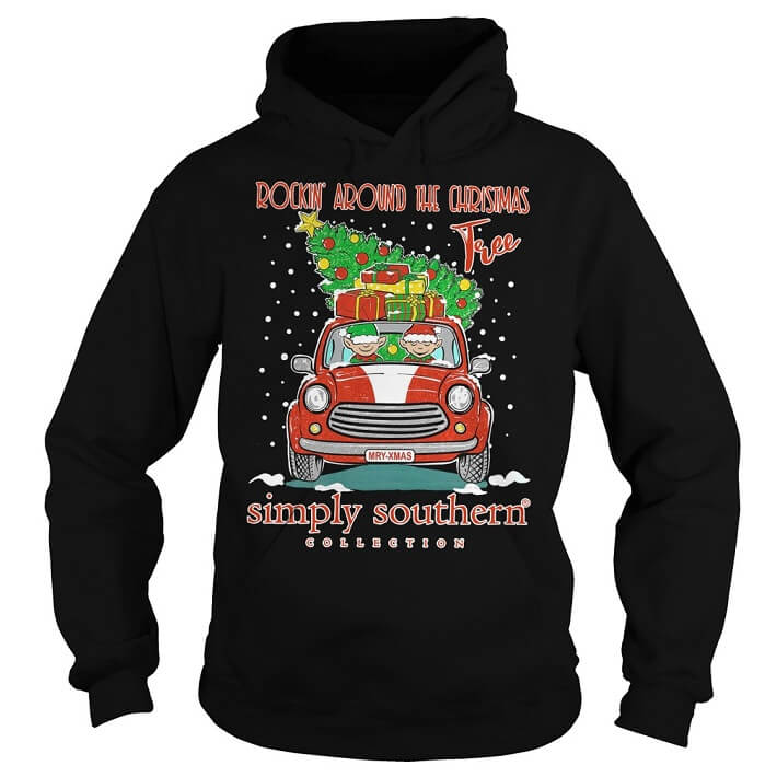 Rockin' around the christmas tree simply southern collection hoodie