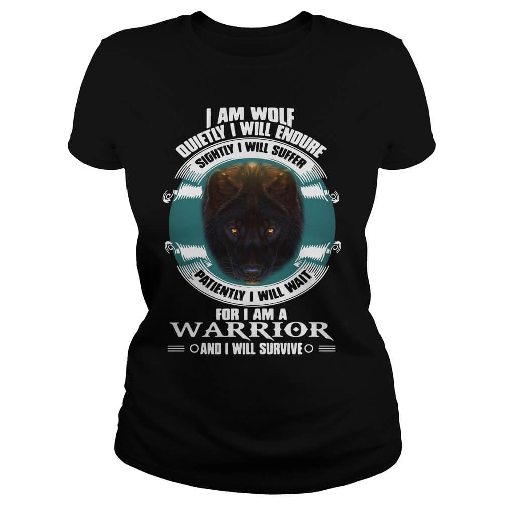 I Will Endure Sightly I Will Suffer I Am A Warrior for girl