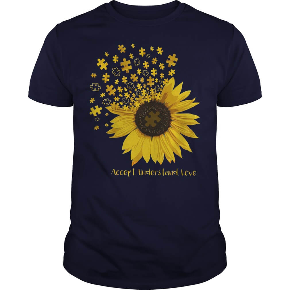 Autism accept understand love sunflower