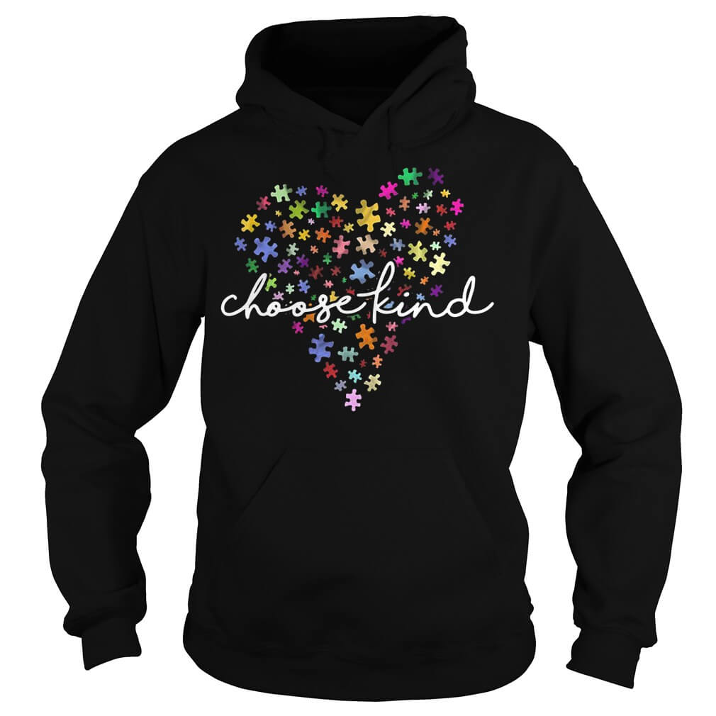 Autism Awareness heart choose kind shirt