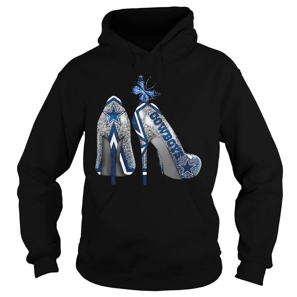 Dallas Cowboys Rhinestone High Heels hoodie