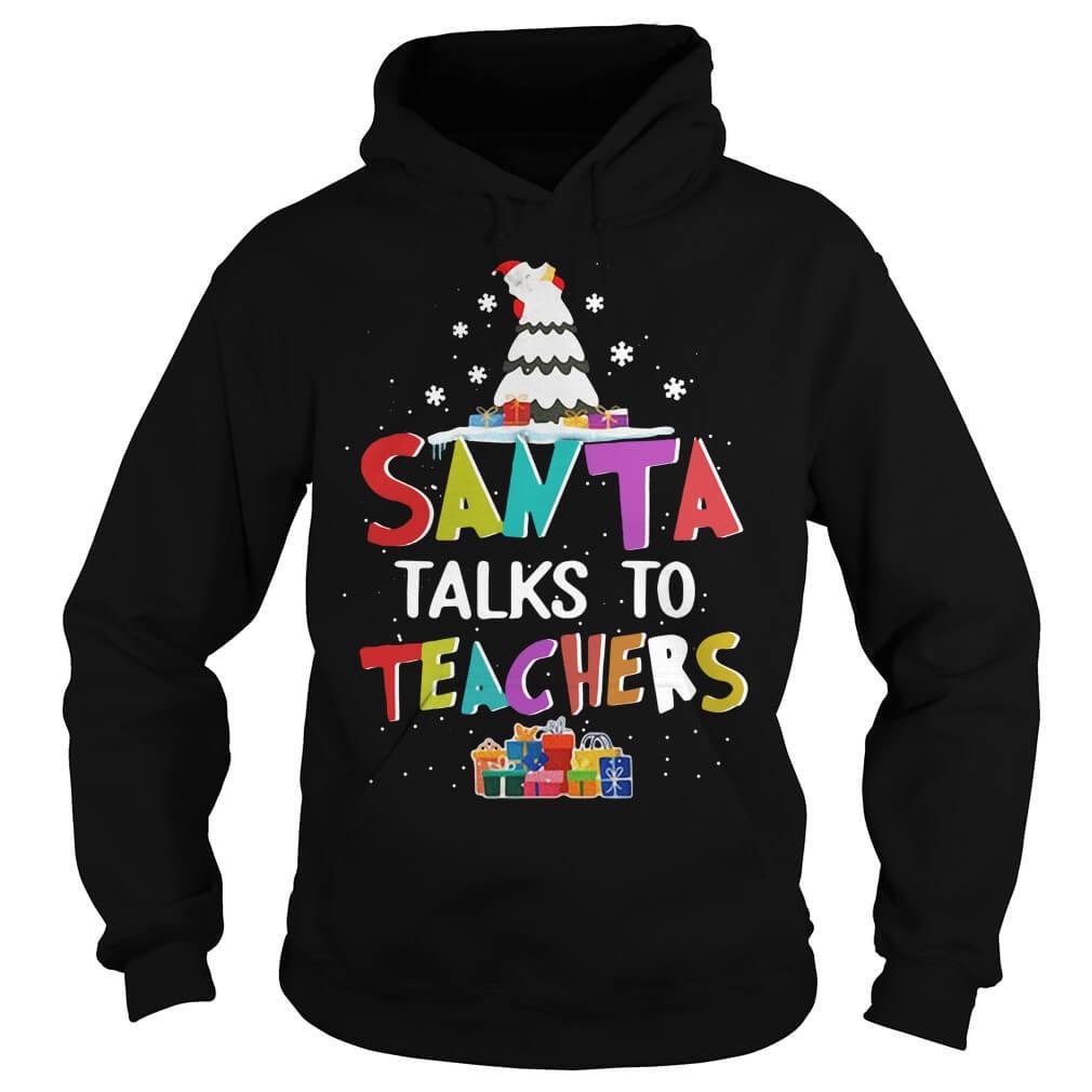 Santa Talks To Teachers men