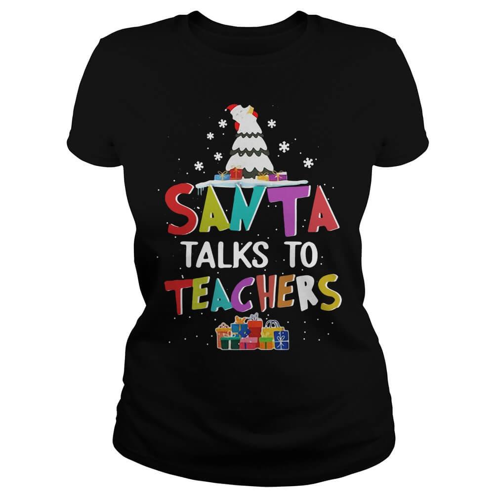 Santa Talks To Teachers Ladies