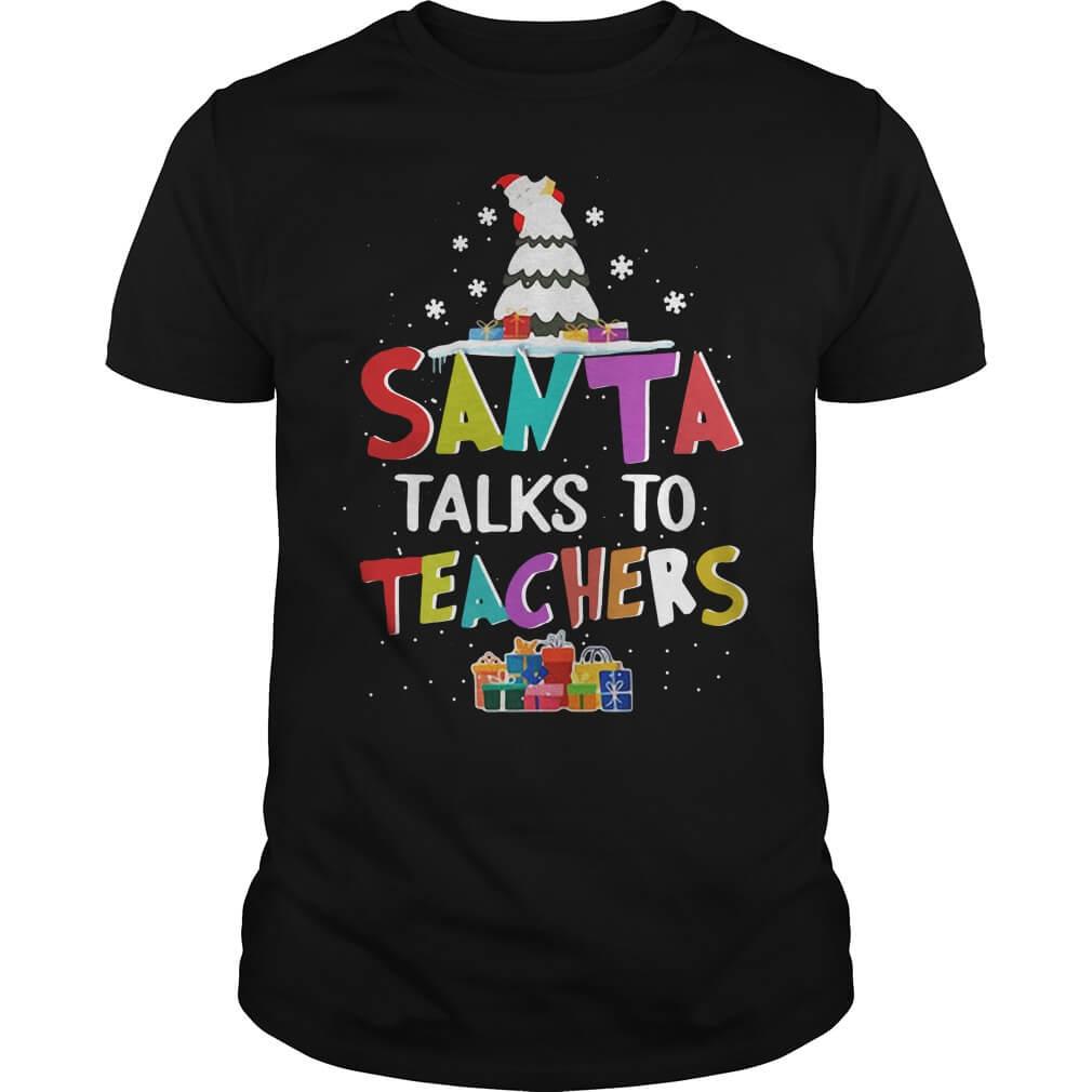 Santa Talks To Teachers