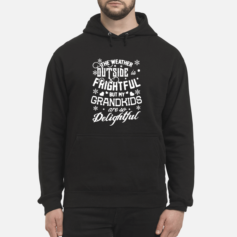 The weather outside frightful but my Grandkids are so delightful hoodie shirt