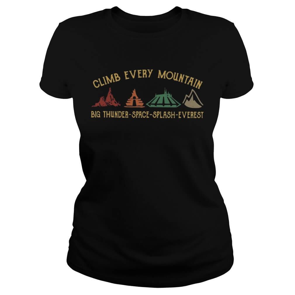 Disney World climb every mountain big thunder space splash Everestladies