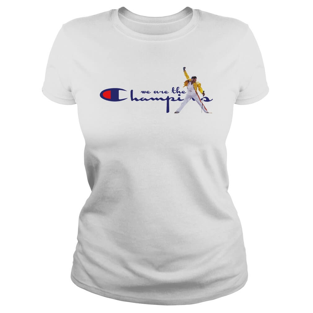 Freddie Mercury We Are The Champions Ladies white shirt
