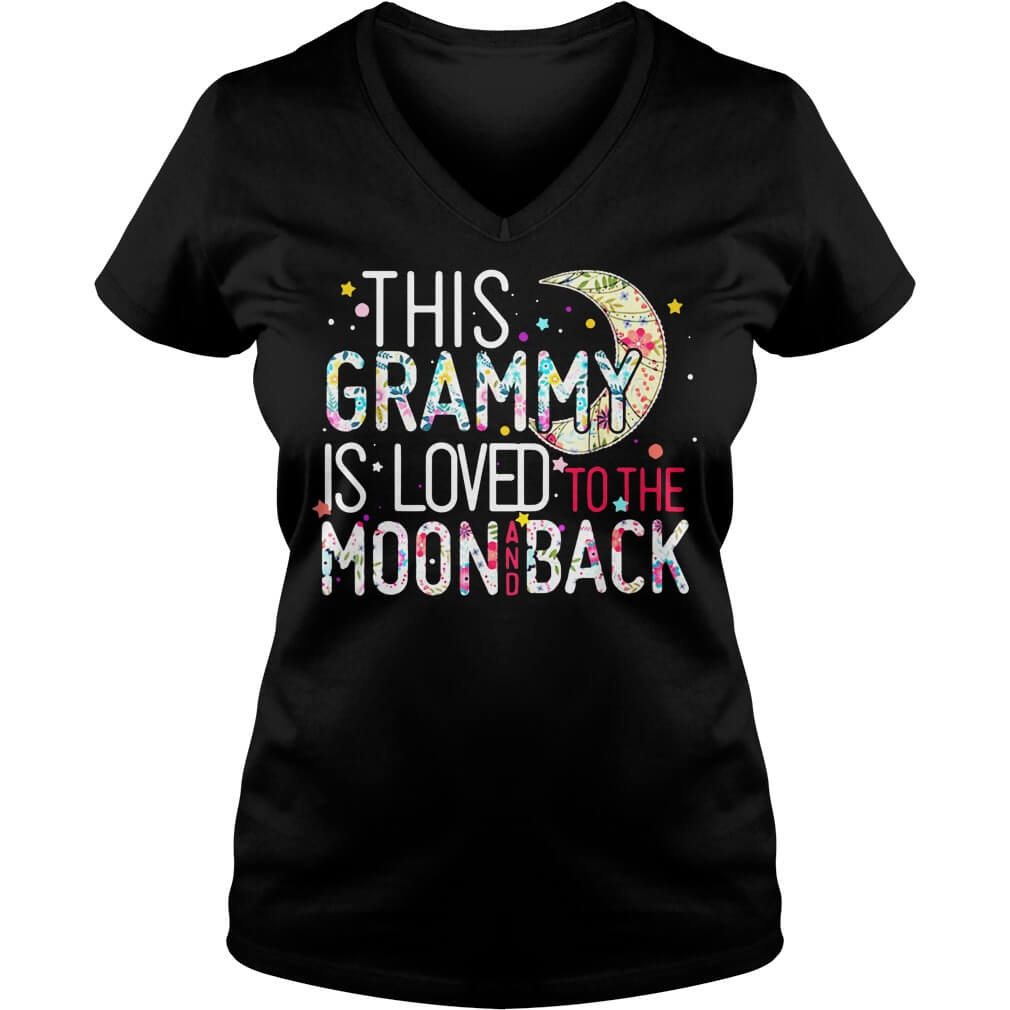 This Grammy Is Loved To The Moon And Back v-neck