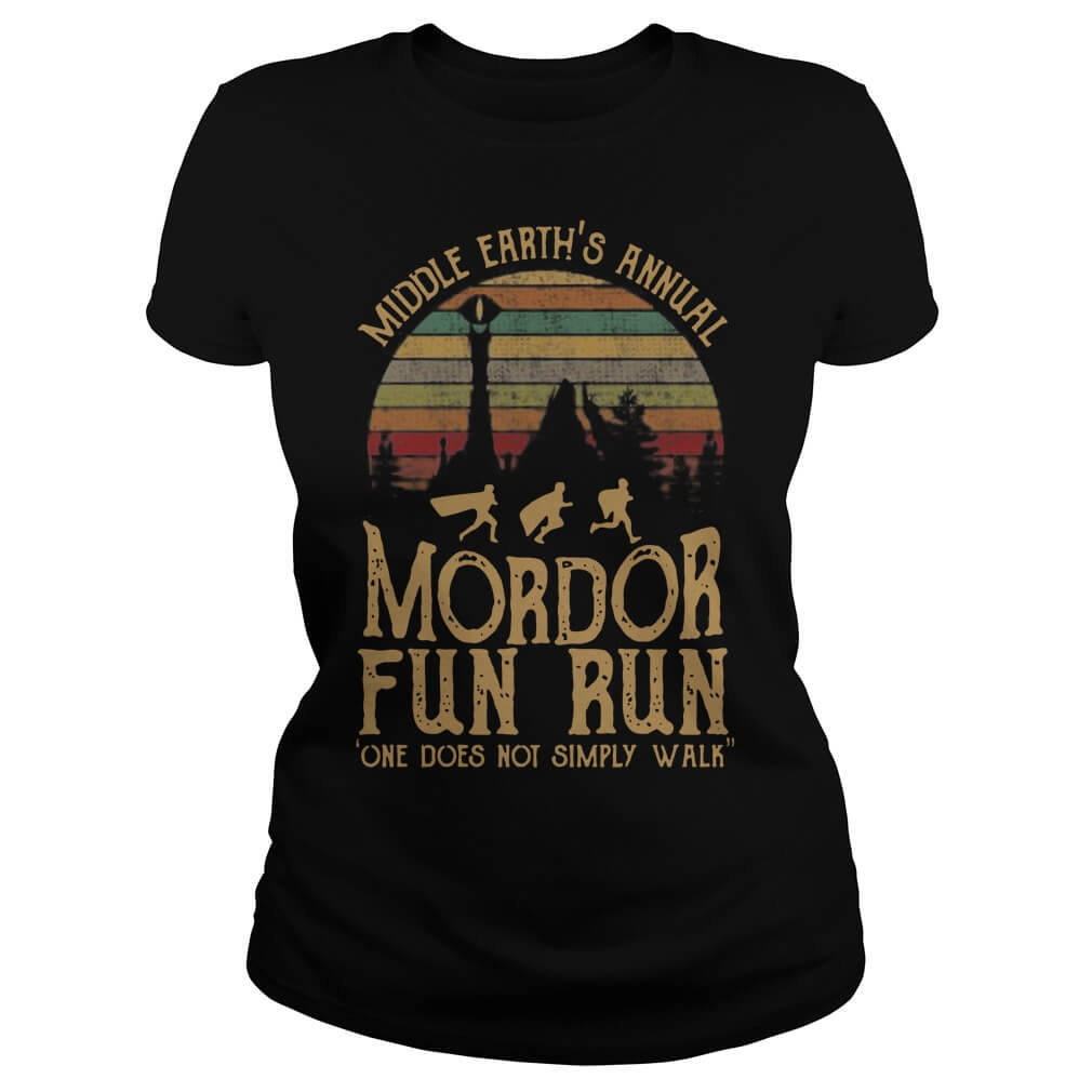 Middle Earth's Annual Mordor Fun Run One Does Not SimPly Walk ladies