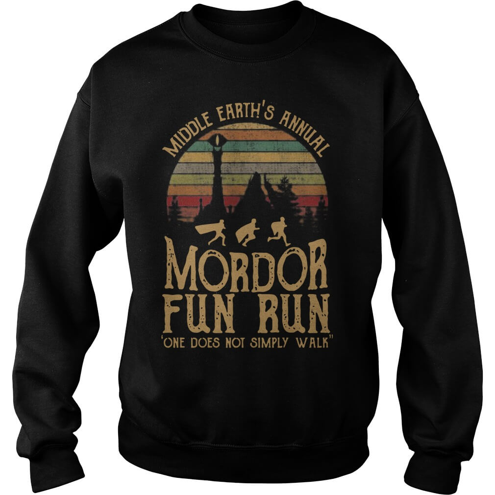 Middle Earth's Annual Mordor Fun Run One Does Not SimPly Walk tee