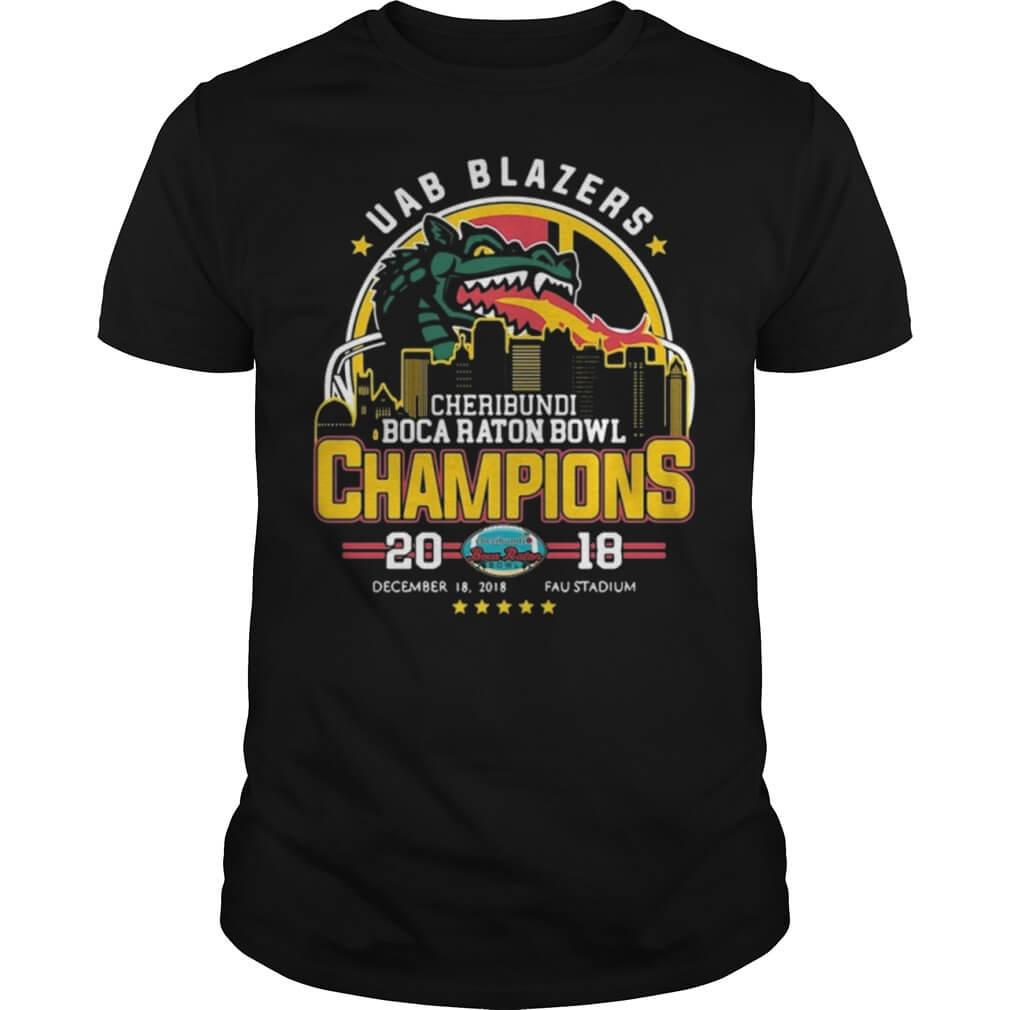 UAB Blazers Cheribundi Boca Raton Bowl Champions 20 18 FAU stadium