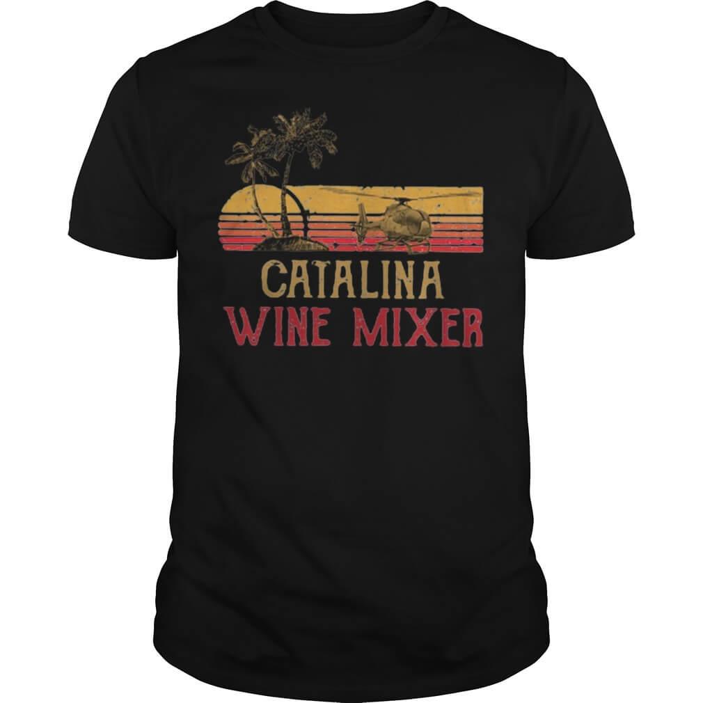 Vintage Catalina wine mixer tee