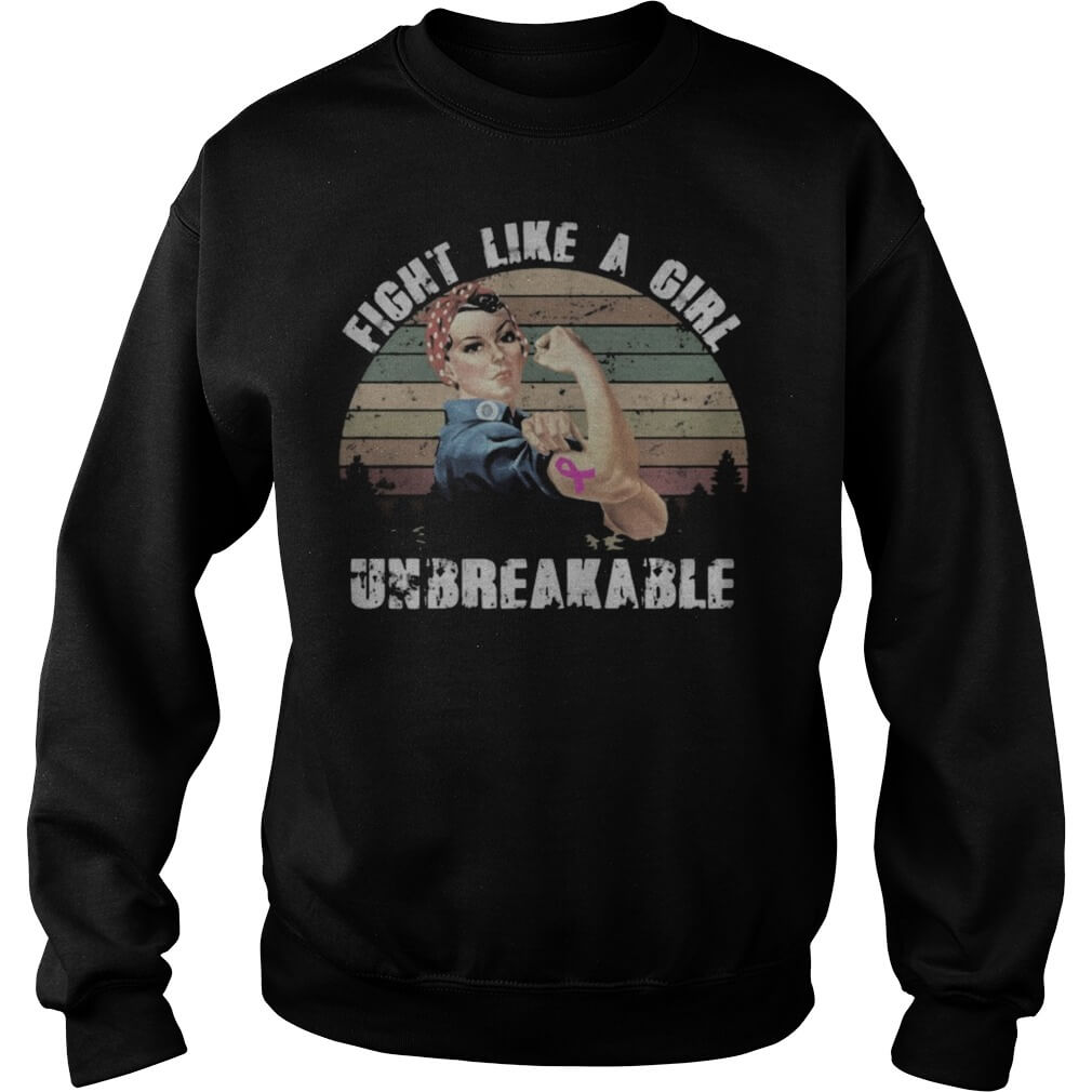 Vintage Fight Like A Girl Unbreakable Sweater