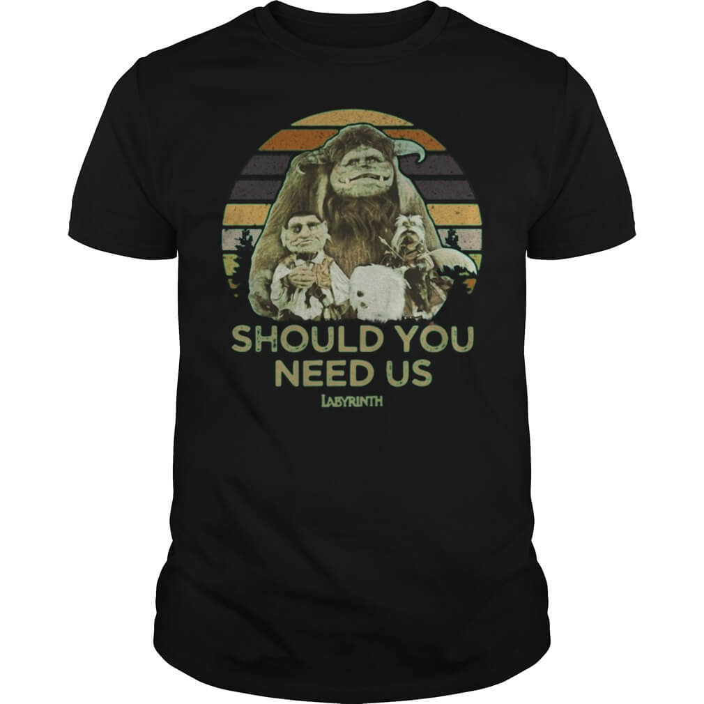 Vintage Labyrinth Should You Need Us t shirt