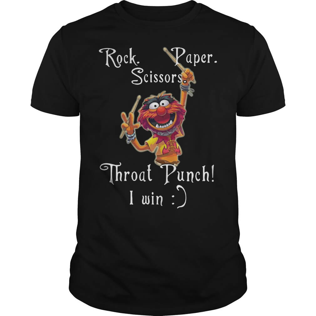 Muppets Rock Paper Scissor Throat Punch