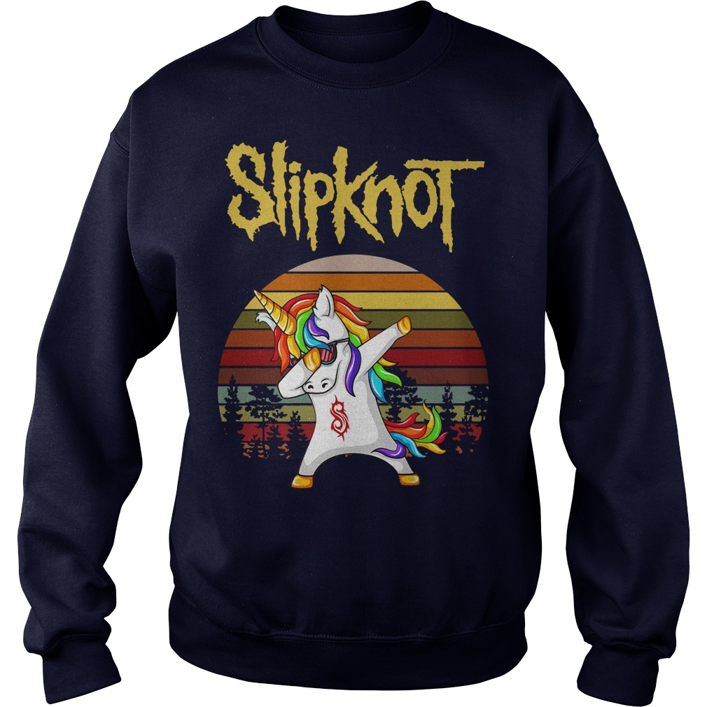 Unicorn Dabbing slipknot sunset longtee